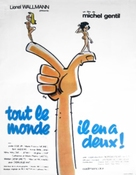 Tout le monde il en a deux - French Movie Poster (xs thumbnail)