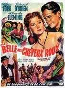 The Redhead and the Cowboy - Belgian Movie Poster (xs thumbnail)