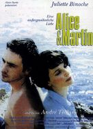 Alice et Martin - German Movie Poster (xs thumbnail)