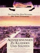 Aufzeichnungen zu Kleidern und Städten - German Movie Poster (xs thumbnail)
