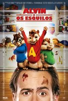Alvin and the Chipmunks - Brazilian Movie Poster (xs thumbnail)