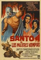 Santo vs. las mujeres vampiro - Mexican Movie Poster (xs thumbnail)