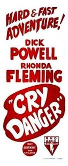 Cry Danger - Australian Movie Poster (xs thumbnail)