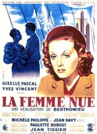 La femme nue - French Movie Poster (xs thumbnail)