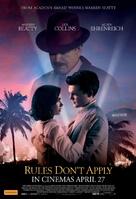 Rules Don't Apply - Australian Movie Poster (xs thumbnail)