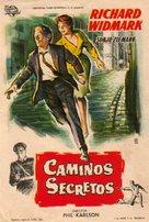 The Secret Ways - Spanish Movie Poster (xs thumbnail)