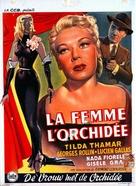 La femme à l'orchidée - Belgian Movie Poster (xs thumbnail)