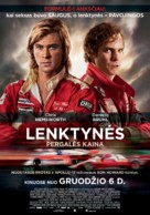 Rush - Lithuanian Movie Poster (xs thumbnail)