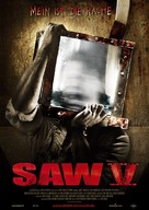 Saw V - German Movie Poster (xs thumbnail)