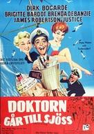 Doctor at Sea - Swedish Movie Poster (xs thumbnail)