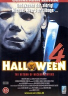 Halloween 4: The Return of Michael Myers - Danish DVD movie cover (xs thumbnail)