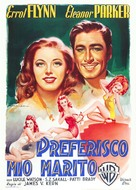 Never Say Goodbye - Italian Movie Poster (xs thumbnail)