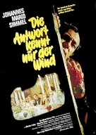 Antwort kennt nur der Wind, Die - German Movie Poster (xs thumbnail)