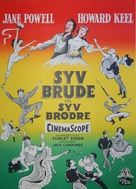 Seven Brides for Seven Brothers - Danish Movie Poster (xs thumbnail)