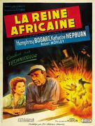 The African Queen - French Movie Poster (xs thumbnail)