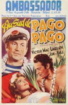 South of Pago Pago - Belgian Movie Poster (xs thumbnail)