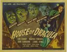 House of Dracula - Theatrical poster (xs thumbnail)