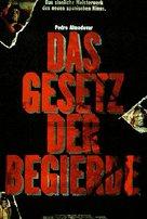 La ley del deseo - German Movie Poster (xs thumbnail)