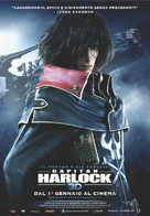 Space Pirate Captain Harlock - Italian Movie Poster (xs thumbnail)