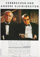 Crimes and Misdemeanors - German Movie Poster (xs thumbnail)