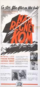 The Rains Came - Swedish Movie Poster (xs thumbnail)