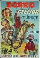 Zorro Rides Again - Turkish Movie Poster (xs thumbnail)