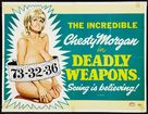 Deadly Weapons - British Movie Poster (xs thumbnail)