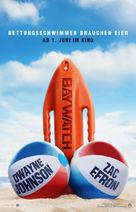 Baywatch - German Movie Poster (xs thumbnail)