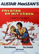 Fear Is the Key - Danish Movie Poster (xs thumbnail)