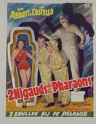 Abbott and Costello Meet the Mummy - Belgian Movie Poster (xs thumbnail)