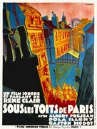 Sous les toits de Paris - French Movie Poster (xs thumbnail)