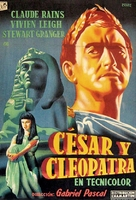 Caesar and Cleopatra - Spanish Movie Poster (xs thumbnail)