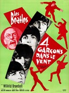 A Hard Day's Night - French Movie Poster (xs thumbnail)