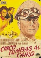 Five Graves to Cairo - Spanish Movie Poster (xs thumbnail)