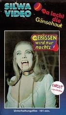 Gebissen wird nur nachts - German VHS cover (xs thumbnail)