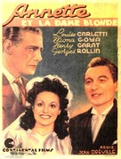Annette et la dame blonde - Belgian Movie Poster (xs thumbnail)