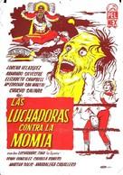 Las luchadoras contra la momia - Mexican Movie Poster (xs thumbnail)