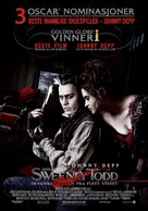 Sweeney Todd: The Demon Barber of Fleet Street - Norwegian Movie Poster (xs thumbnail)