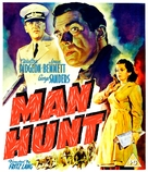 Man Hunt - British Movie Cover (xs thumbnail)