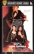 Licence To Kill - Finnish VHS movie cover (xs thumbnail)
