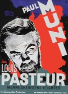 The Story of Louis Pasteur - Danish Movie Poster (xs thumbnail)