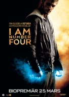I Am Number Four - Swedish Movie Poster (xs thumbnail)