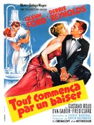 It Started with a Kiss - French Movie Poster (xs thumbnail)