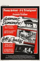 Vivement dimanche! - Belgian Movie Poster (xs thumbnail)