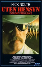 Extreme Prejudice - Norwegian VHS cover (xs thumbnail)