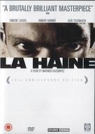 La haine - British DVD movie cover (xs thumbnail)