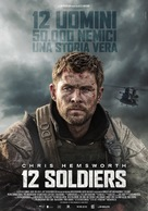 12 Strong - Italian Movie Poster (xs thumbnail)