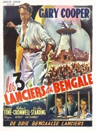 The Lives of a Bengal Lancer - Belgian Movie Poster (xs thumbnail)