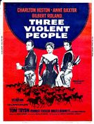 Three Violent People - British Movie Poster (xs thumbnail)