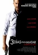 3 Days to Kill - Chilean Movie Poster (xs thumbnail)